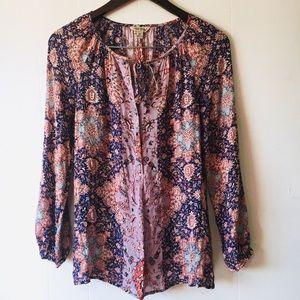 • lucky boho blouse •